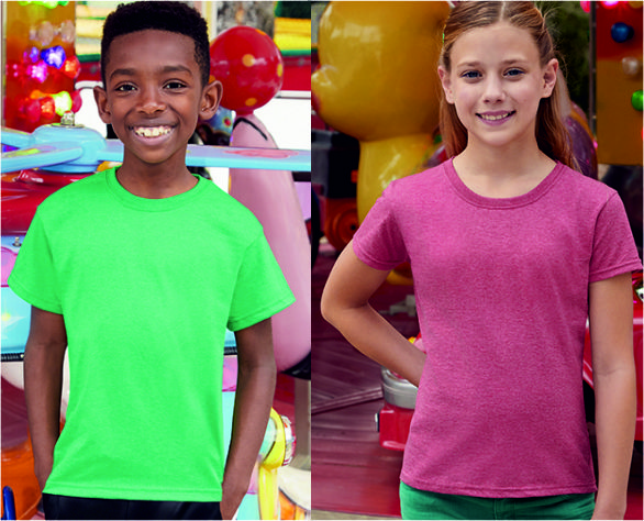 Fruit of the Loom Classic Kinder T-Shirt